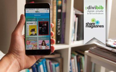 Starke Partner für digitale Medien in Bibliotheken: sharemagazines und divibib verkünden Kooperation