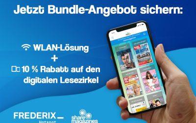 WLAN-Lösung und digitaler Lesezirkel als innovatives Gesamtpaket – jetzt Bundle-Angebot bis zum 30.09. sichern